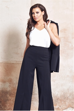 Jessica Wright  Tyra Wide Leg Mid Split Tailored Trousers
