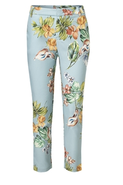 Jessica Wright Noemi blue multi tailored floral print trousers with pocket