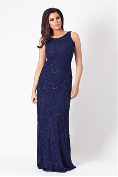 Jessica Wright Aphrodite VIP Navy Sequin Maxi Dress