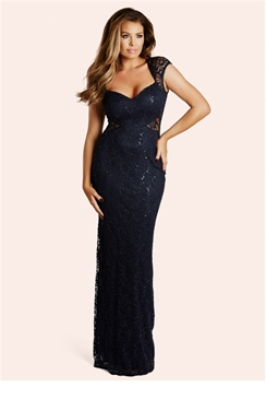 Jessica Wright Rebecca Navy Sequin Lace Maxi Dress