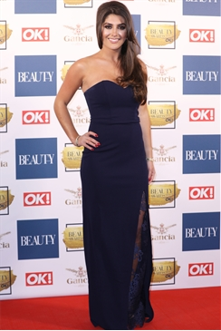Jessica Wright Kerstin Navy Strapless Maxi Dress