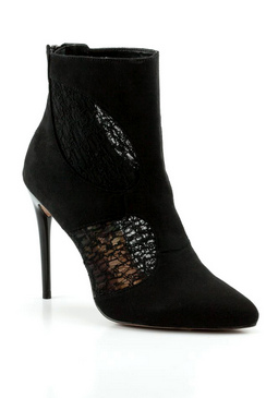 Jessica Wright Aponni Black Micro-Suede Shoes