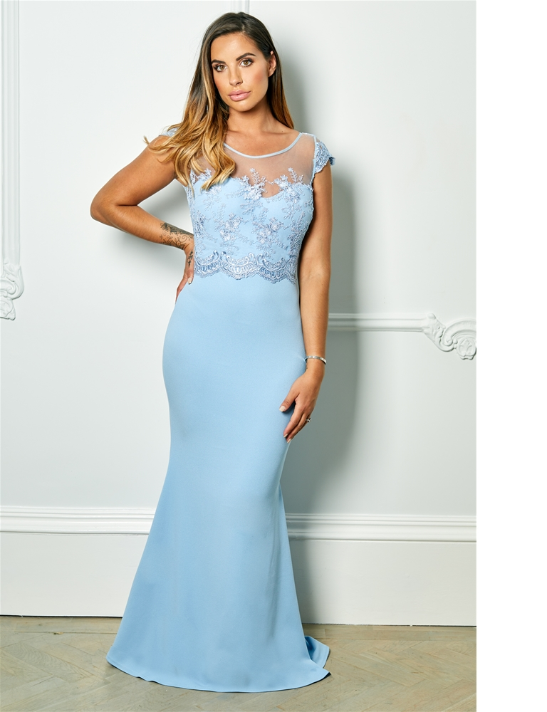 4e72fd5cce Sistaglam Special Edition Jessica Rose Sadia powder blue embroided and  beaded maxi dress - currently unavailable