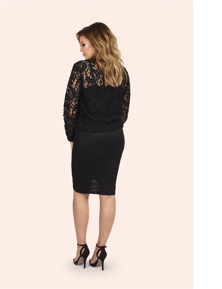 65c998ec2 Jessica Wright Jen Black Lace Bomber Jacket- currently unavailable