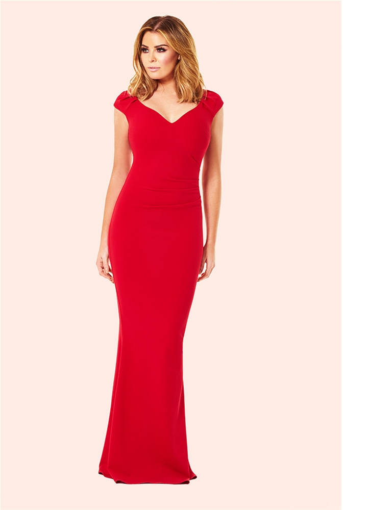 Jessica Wright Camilla Red Ruched