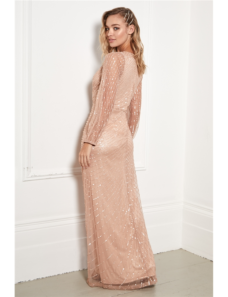 Purchase Rose Gold Maxi Dress Uk Up To 79 Off