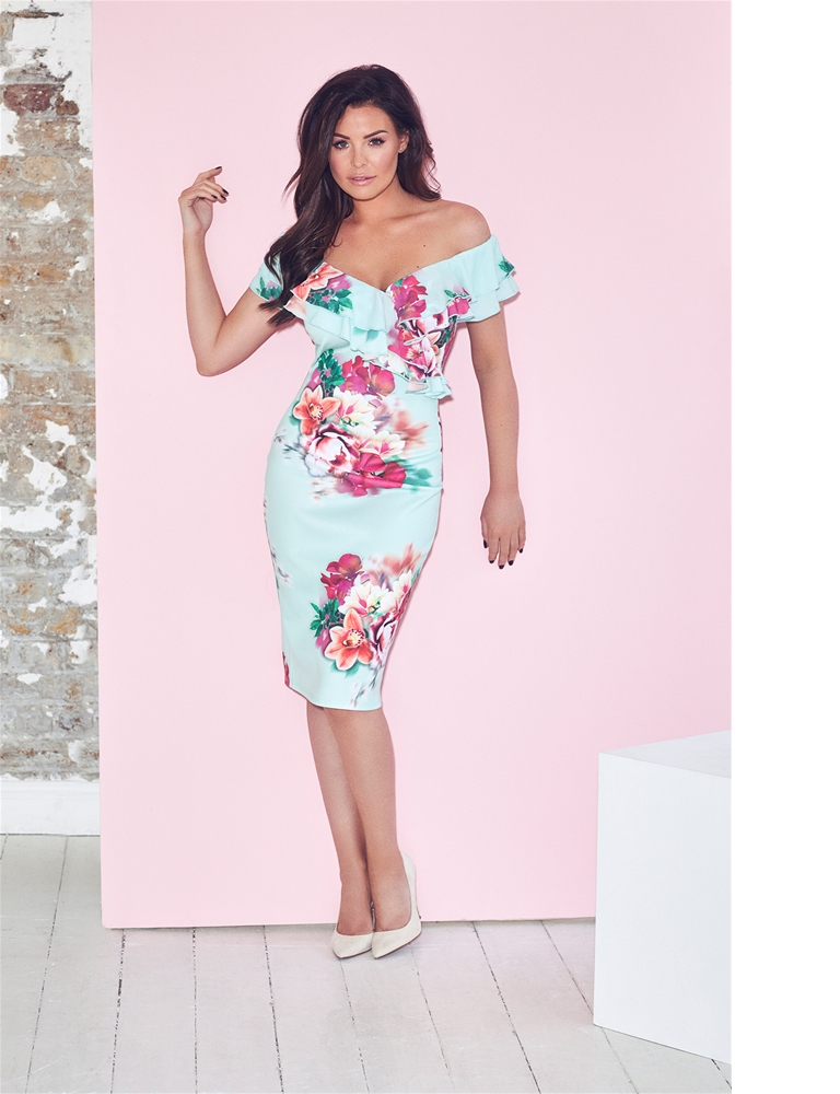 205d459e943d Jessica Wright Summer Floral Mint Bodycon Dress- currently ...