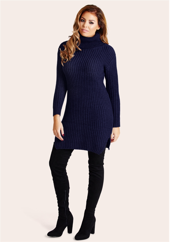 ffcd1c940221ee Jessica Wright Naya Navy Knit Jumper dress- currently unavailable