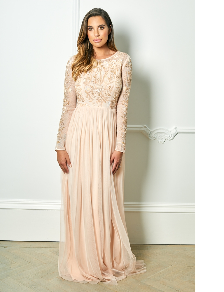 7384c767921b Sistaglam Special Edition Jessica Rose Texla blush long sleeve ...