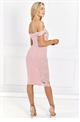 Sistaglam Ziane Pink fitted lace dress