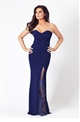 Jessica Wright Kerstin navy bardot maxi dress