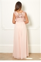Sistaglam Special Edition Jessica Rose Jamil Pink Lace Maxi Dress