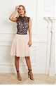 Sistaglam Taniara blush lace sleeveless body skater chiffon dress