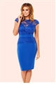 Jessica Wright's Bliss Cobalt Lace Detail Bodycon Dress from the Sistaglam Occasion Wear and Wedding Collecton