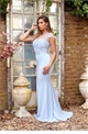 Sistaglam Special Edition Jessica Rose Sadia powder blue embroided and beaded maxi dress