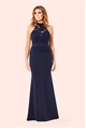 Jessica Wright Britney Navy Lace Detail Maxi Dress