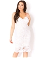 Sistaglam Loves Jessica Wright Havana white strappy lace bodycon dress