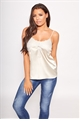 Jessica Wright Harj gold satin lace trim insert cami top