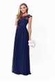 Sistaglam Beverley Petite navy Lace Bridesmaid Maxi Dress
