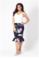 Jessica Wright Anala multi floral skirt