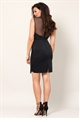 Jessica Wright Natacha Black All Over Lace With Mesh High Neck Bodycon Dress