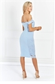 Sistaglam Ziane blue fitted lace dress
