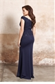 Jessica Wright Shayda Navy Sequin Lace Top Slim Fitting Maxi Dress