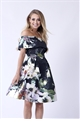 Sistaglam Kaya multi floral off the shoulder skater dress
