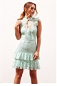 Sistaglam Jasmine doll mint lace layered dress