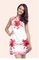 Sistaglam May Textured Floral Print Prom Dress