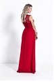 Sistaglam Beverley Red Embellished Maxi Dress
