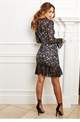 Sistaglam Dee black all over lace long sleeve dress