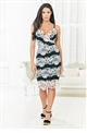Jessica Wright Niva monochrome strappy lace midi bodycon
