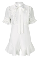 Jessica Wright Darlene white playsuit short sleeve with trims