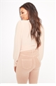 Sistaglam Loves Jessica Wright Sashee pink Wrap Around Stretch Top With Blouson Sleeve