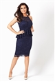 Jessica Wright Selina navy lace midi dress.