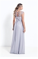 Sistaglam Beverley Petite silver Lace Bridesmaid Maxi Dress