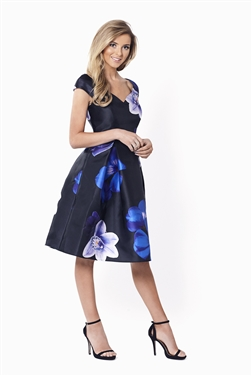 Sistaglam Radley Bardot All Over Floral Print Dress
