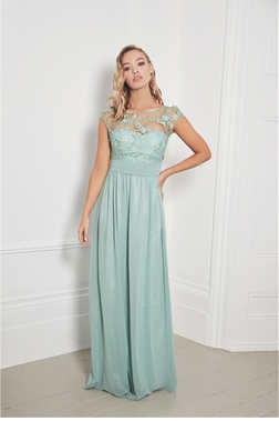 Sistaglam Beverley Mint Lace Bridesmaid Maxi Dress