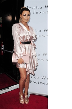 Jessica Wright Limited Edition Jess Gold Silk Robe Dress