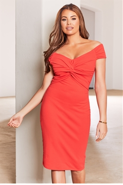 Sistaglam loves Jessica Wright Carolyn red wrap knot maxi dress