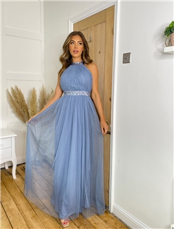 SISTAGLAM JOY DUSTY BLUE DRESS