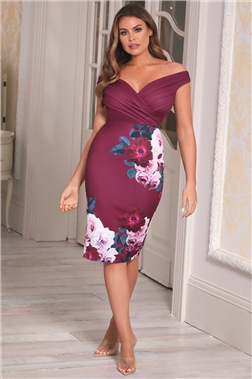 Sistaglam Loves Jessica Wright Deanna Berry Floral Dress
