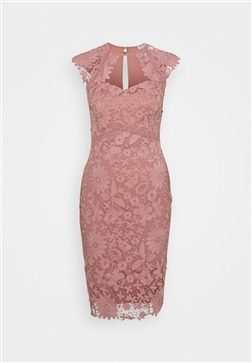 SISTAGLAM LOVES JESSICA WRIGHT MAZZIE PINK LACE SWEETHEART BODYCON DRESS