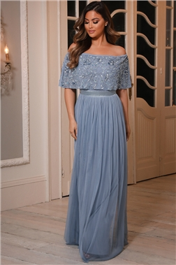 IRIANA PETITE BLUE MAXI DRESS