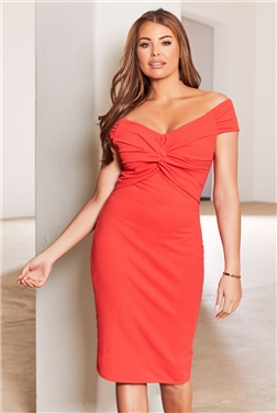 Sistaglam Loves Jessica Wright Carolyn Petite Coral Dress