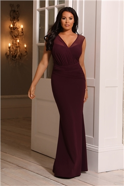 SISTAGLAM LOVES JESSICA WRIGHT HARPER MERLOT MAXI DRESS