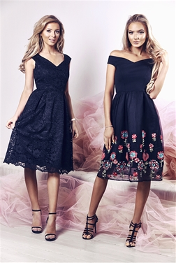 Sistaglam Lilanna Black Floral Dress