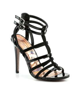 Jessica Wright Ann Black Faux Leather/Pu Shoes