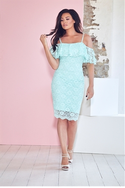Jessica Wright Ellis mint lace bodycon